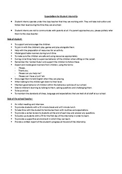 Printable and Editable Guidelines for Student Interns and Work Experience