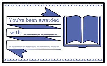 Printable any occasion award (blue)