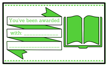 Printable any occasion award (green)
