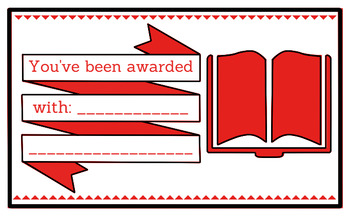 Printable any occasion award (red)