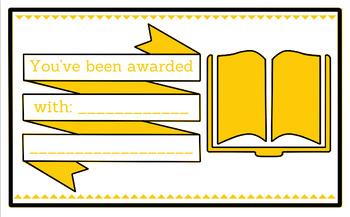 Printable any occasion award (yellow)