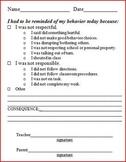 Printable behavior reminders