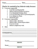 Printable behavior reminders
