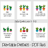 Printable bible verses posters for decor - Ask, seek, knoc