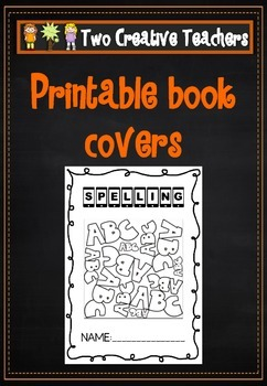 Printable book covers