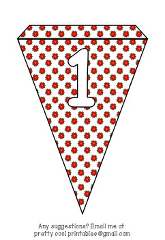 Printable bunting display bulletin letters numbers and more: Christmas Flower