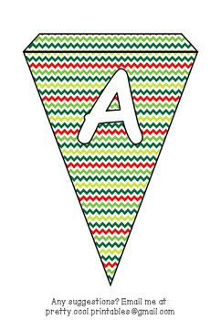 Printable bunting display bulletin letters numbers and more: Christmas ZigZag