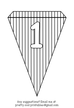 Printable bunting display bulletin letters numbers and more: Colour Your Own