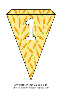 Printable bunting display bulletin letters numbers and more: Harvest Fall