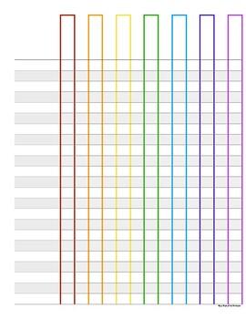 Printable checklist or grade book page