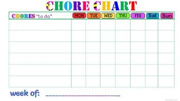 Chore chart, Rules