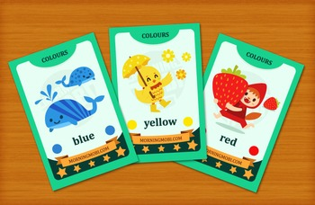 Printable color flash cards for children