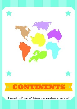 Printable continent maps