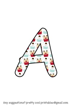 Printable display bulletin letters numbers and more: Christmas Muffin