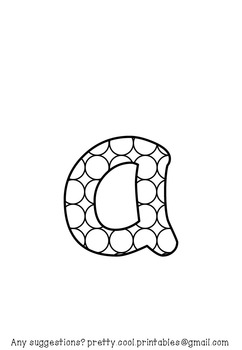 Printable display bulletin letters numbers and more: Colour Your Own