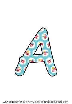 Printable display bulletin letters numbers and more: Flowers