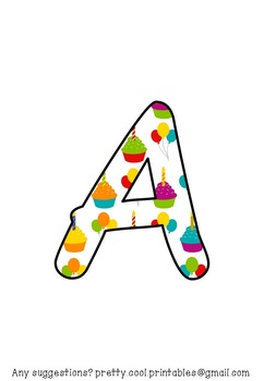 Printable display bulletin letters numbers and more: Happy