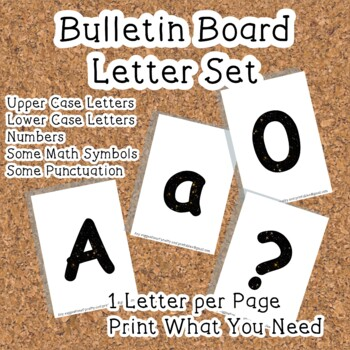 Printable display bulletin letters numbers and more: Scien