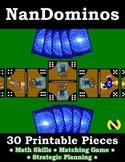 Printable domino game (Nando The Healthy Hero)