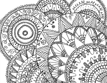 Printable doodle coloring pages