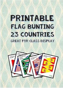 Printable flag bunting booklet