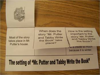 Printable flap book for Mr. Putter and Tabby Write the Book