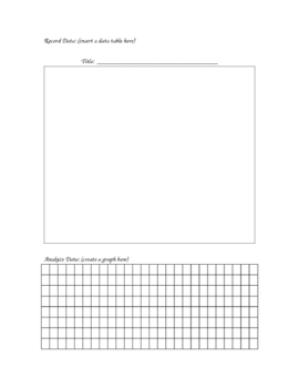 Printable for Experimental Design (Template)