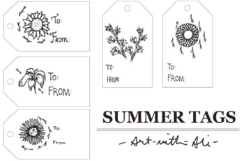Printable gift tags/labels perfect for end-of-the-year gift giving!