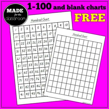 picture about Printable Hundred Chart called Printable hundred chart (selection and blank styles)