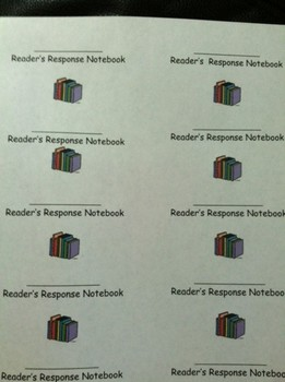 Printable labels for Readers Response Notebook