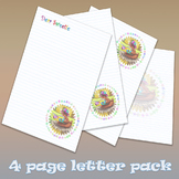 Letter template Pack - 4 printable pages - Dear Sweetie (w