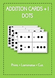 Printable math addition cards +1 | dots