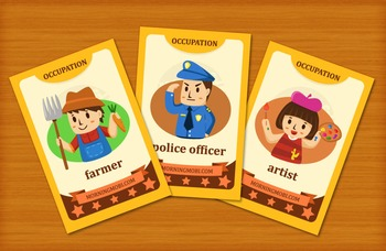 Printable occupation flash cards