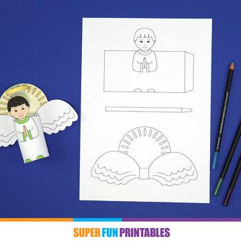 Printable paper angels
