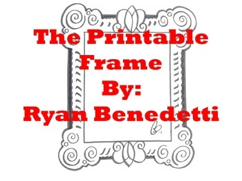 Art: Printable picture Frame