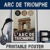 Printable poster - Arc de Triomphe