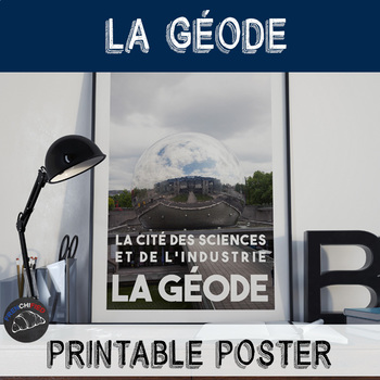 Printable poster - La Géode