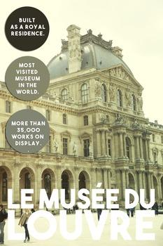 Printable poster - La Musée du Louvre