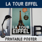 Printable poster - La Tour Eiffel