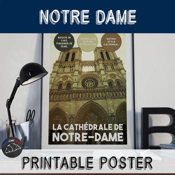 Printable poster - Notre-Dame de Paris