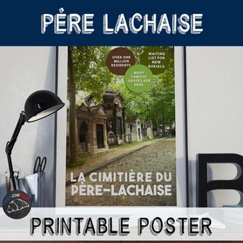 Printable poster - Père Lachaise cemetery