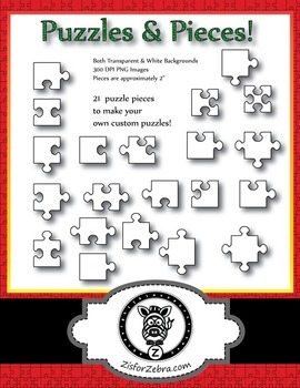 Printable puzzles and puzzle pieces! 21 puzzle pieces!
