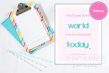 Printable quote. Teacher binder section divider.
