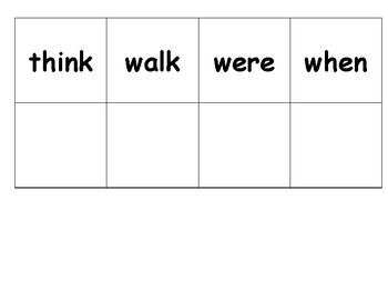 Printable sight words cards first grade