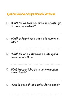 photograph relating to Printable Spanish Reading Comprehension called PRINTABLE SPANISH Stories, Reading through Knowledge Workout routines, Online games AND Routines!