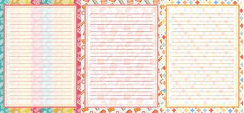 Printable stationary designs bundle