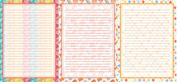 Printable stationery designs bundle