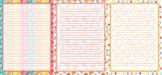 Printable stationery designs bundle