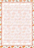 Printable stationery school supplies design