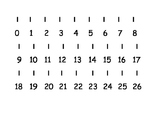 Printable table number line